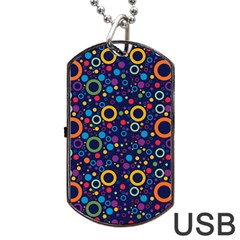 70s Pattern Dog Tag Usb Flash (two Sides)
