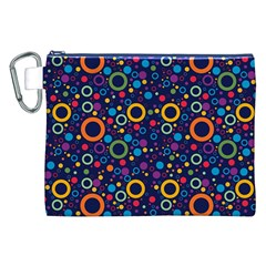 70s Pattern Canvas Cosmetic Bag (xxl)
