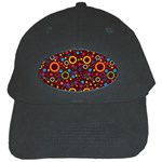 70s pattern Black Cap Front