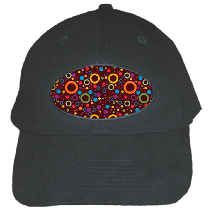 70s pattern Black Cap