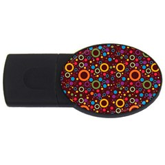70s Pattern Usb Flash Drive Oval (4 Gb)