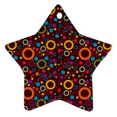 70s Pattern Star Ornament (two Sides)