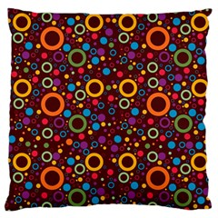 70s Pattern Large Flano Cushion Case (one Side)