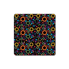 70s Pattern Square Magnet