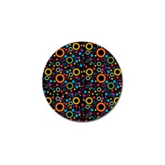70s Pattern Golf Ball Marker