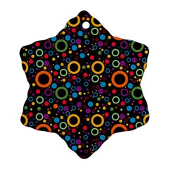 70s Pattern Snowflake Ornament (two Sides)