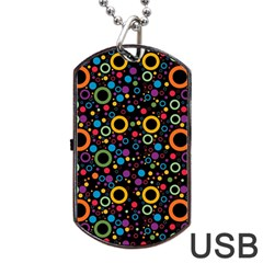 70s Pattern Dog Tag Usb Flash (one Side)