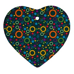 70s Pattern Ornament (heart)