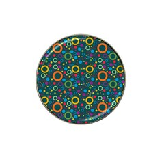 70s Pattern Hat Clip Ball Marker (10 Pack)