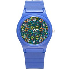 70s Pattern Round Plastic Sport Watch (s)