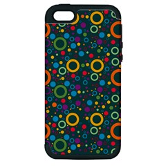 70s Pattern Apple Iphone 5 Hardshell Case (pc+silicone)