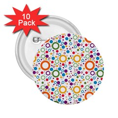 70s Pattern 2 25  Buttons (10 Pack)