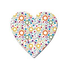 70s Pattern Heart Magnet