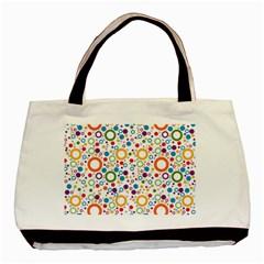 70s Pattern Basic Tote Bag