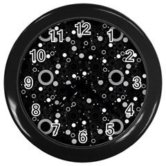 70s Pattern Wall Clocks (black)