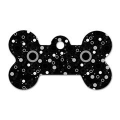 70s Pattern Dog Tag Bone (one Side)