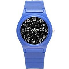 70s Pattern Round Plastic Sport Watch (s)