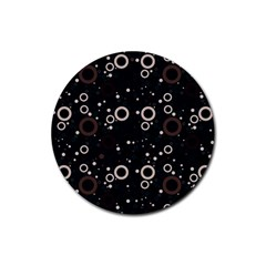 70s Pattern Rubber Round Coaster (4 Pack)