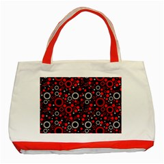 70s Pattern Classic Tote Bag (red)