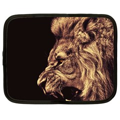 Angry Male Lion Gold Netbook Case (xl)