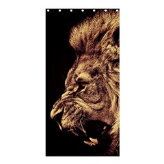Angry Male Lion Gold Shower Curtain 36  X 72  (stall)