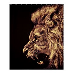 Angry Male Lion Gold Shower Curtain 60  X 72  (medium)