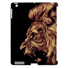 Angry Male Lion Gold Apple Ipad 3/4 Hardshell Case (compatible With Smart Cover)