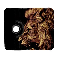 Angry Male Lion Gold Galaxy S3 (flip/folio)