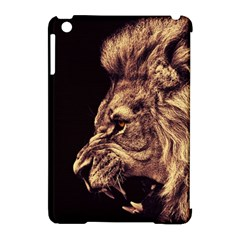 Angry Male Lion Gold Apple Ipad Mini Hardshell Case (compatible With Smart Cover)