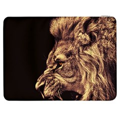 Angry Male Lion Gold Samsung Galaxy Tab 7  P1000 Flip Case