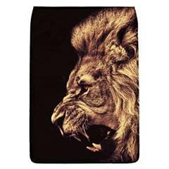 Angry Male Lion Gold Flap Covers (l)