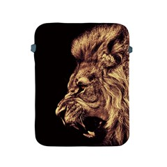 Angry Male Lion Gold Apple Ipad 2/3/4 Protective Soft Cases