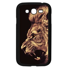 Angry Male Lion Gold Samsung Galaxy Grand Duos I9082 Case (black)