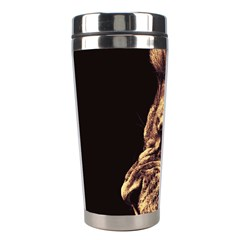 Angry Male Lion Gold Stainless Steel Travel Tumblers