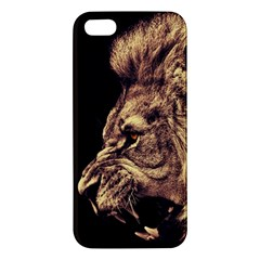 Angry Male Lion Gold Iphone 5s/ Se Premium Hardshell Case