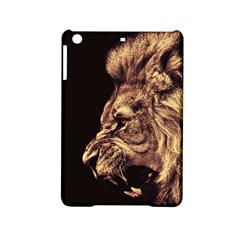 Angry Male Lion Gold Ipad Mini 2 Hardshell Cases