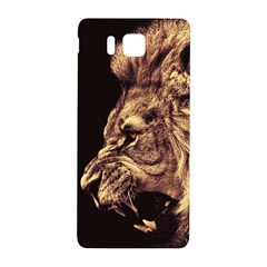 Angry Male Lion Gold Samsung Galaxy Alpha Hardshell Back Case