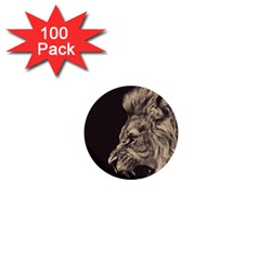Angry Male Lion 1  Mini Buttons (100 Pack)