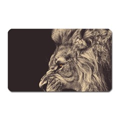 Angry Male Lion Magnet (rectangular)