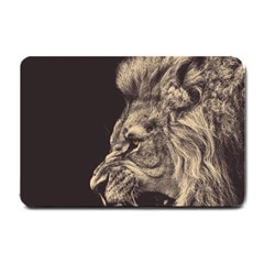 Angry Male Lion Small Doormat