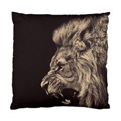 Angry Male Lion Standard Cushion Case (one Side)