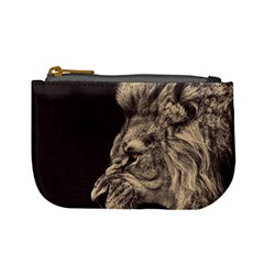 Angry Male Lion Mini Coin Purses