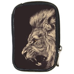 Angry Male Lion Compact Camera Cases