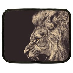 Angry Male Lion Netbook Case (xxl)