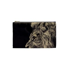Angry Male Lion Cosmetic Bag (small)