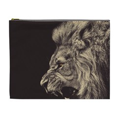 Angry Male Lion Cosmetic Bag (xl)
