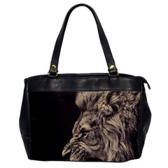Angry Male Lion Office Handbags