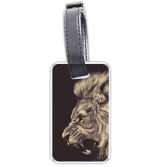 Angry Male Lion Luggage Tags (two Sides)