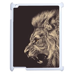 Angry Male Lion Apple Ipad 2 Case (white)