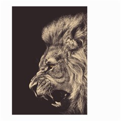 Angry Male Lion Small Garden Flag (two Sides)